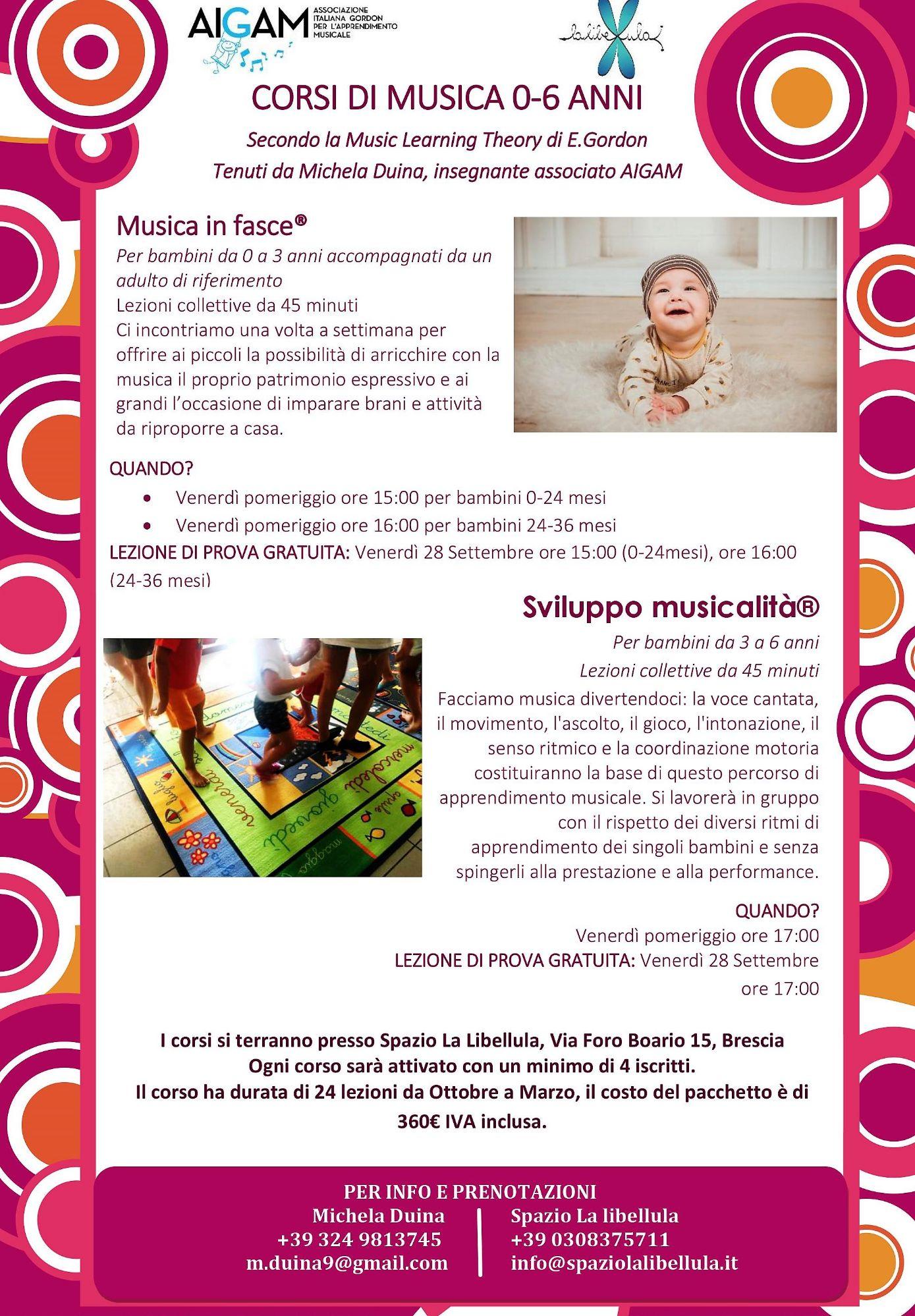 INCONTRO INFORMATIVO CORSI MUSICA 0-6 ANNI
